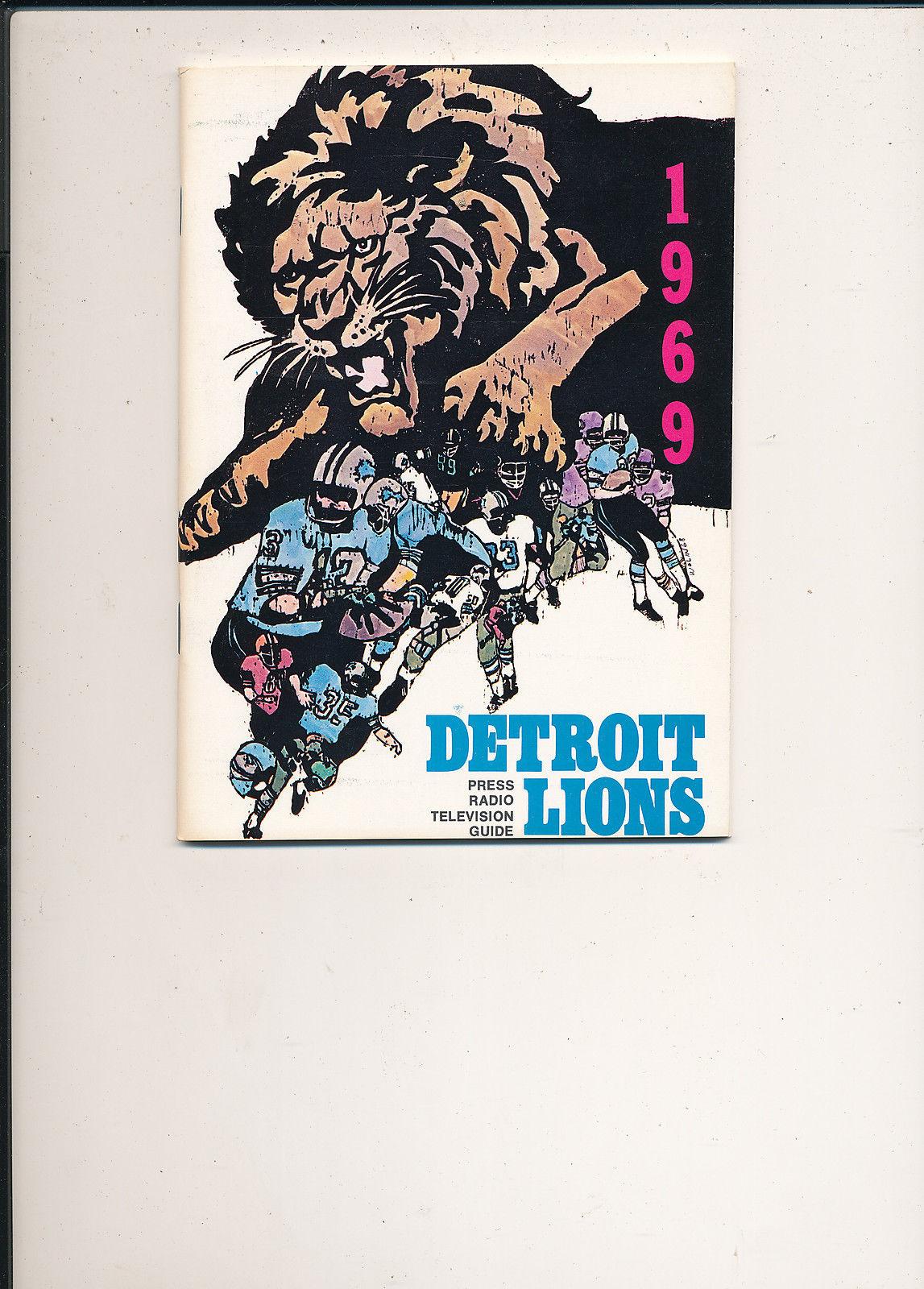 1969 Detroit Lions Press Guide