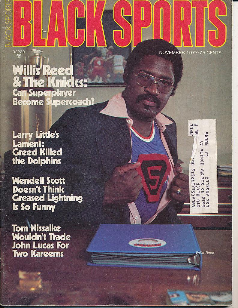 Black Sports Magazine Willis Reed New York Knicks 11/1977