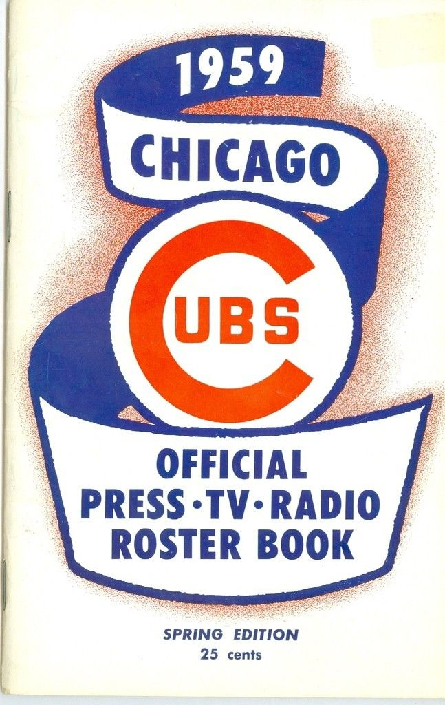 1959 Chicago Cubs spring press media guide nm bx cubs