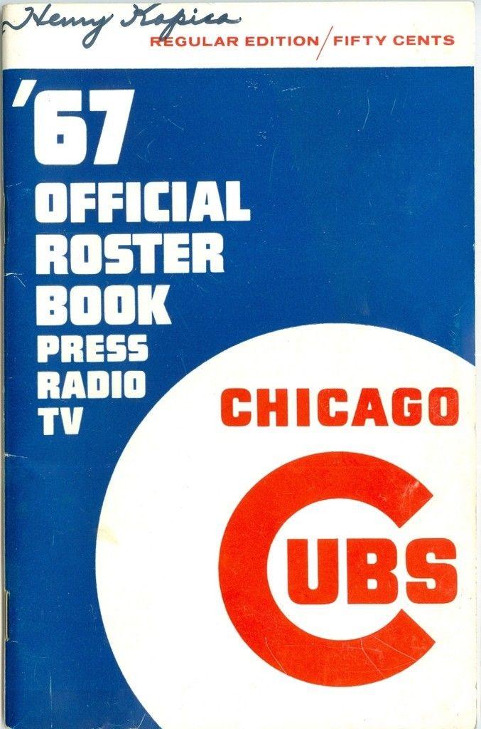1967 Chicago Cubs regular press media guide bx cubs