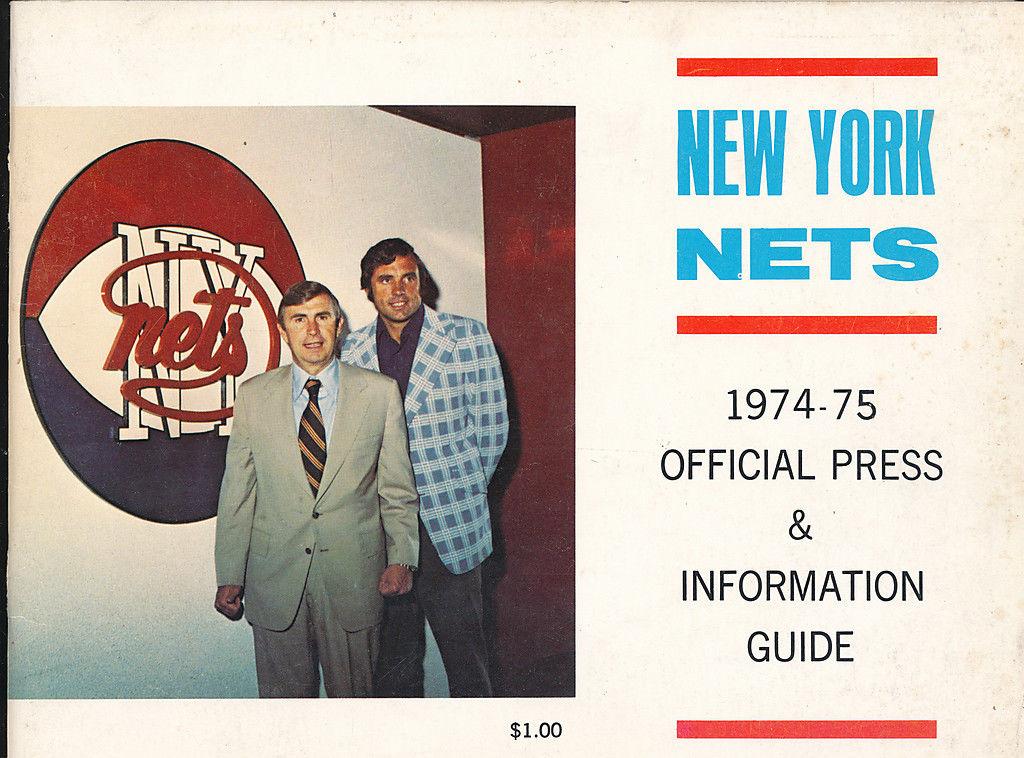 1974 - 1975 New York Nets ABA Press guide Dr. J Julius Erving NBA2