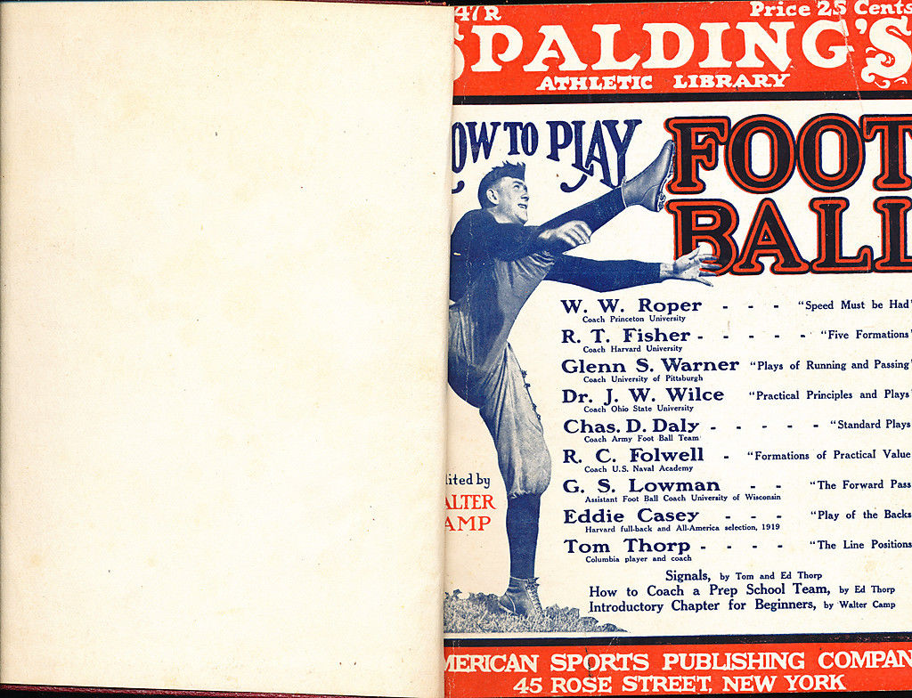 spalding how to play Football Guide 1922 hardbound edition