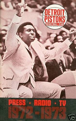 1972 Detroit Pistons Basketball guide yearbook NBAmg1
