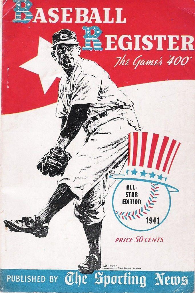 1941 The Sporting News All-Star Edition Baseball Register ex | Bx reg