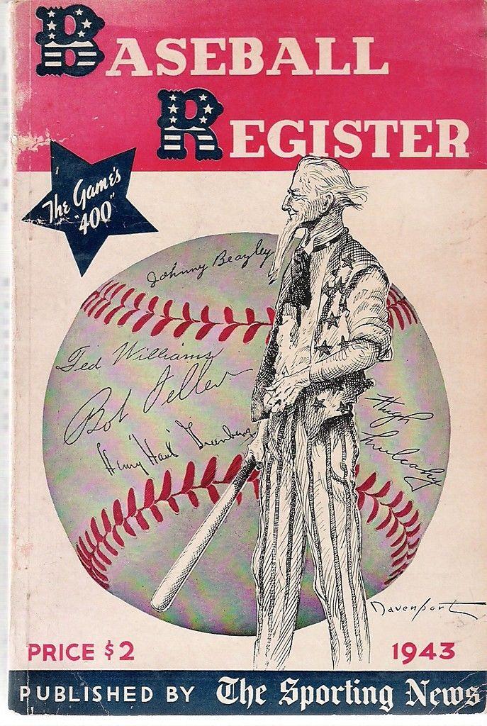 1943 The Sporting News Baseball Register - bx reg