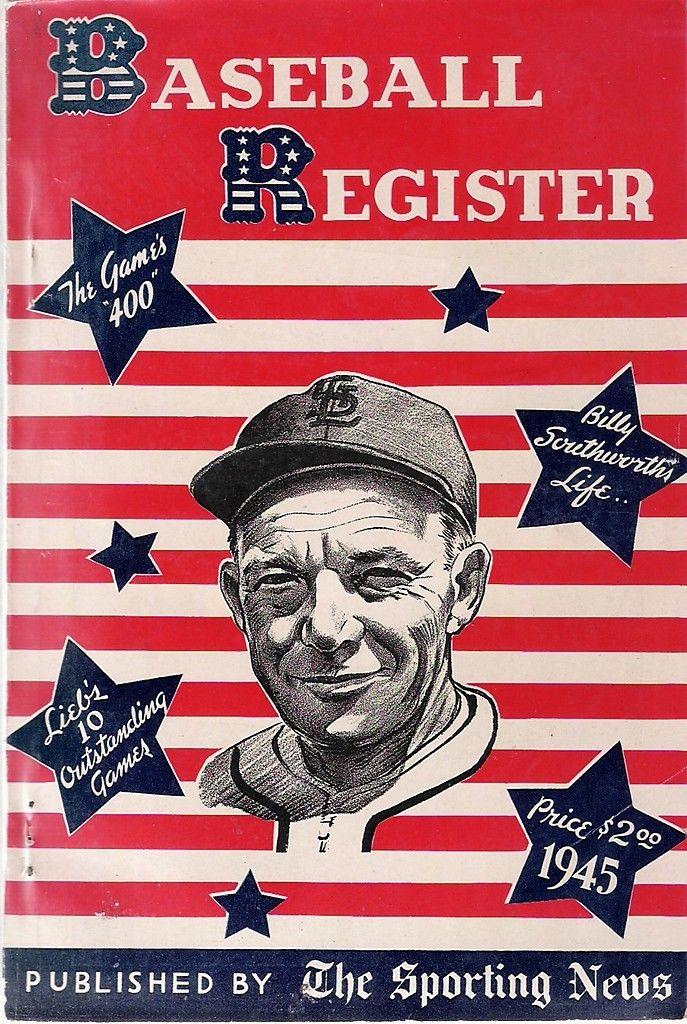 1945 The Sporting News Baseball Register - Billy Southworth | Bx reg