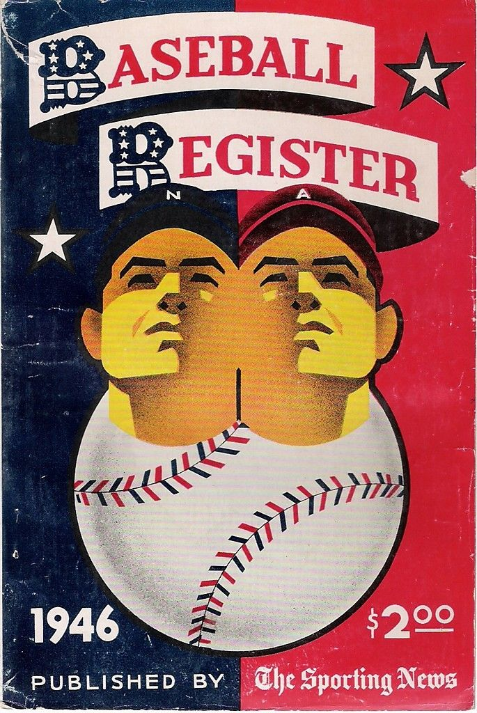 1946 The Sporting News Baseball Register  ex spine tear  Bx reg