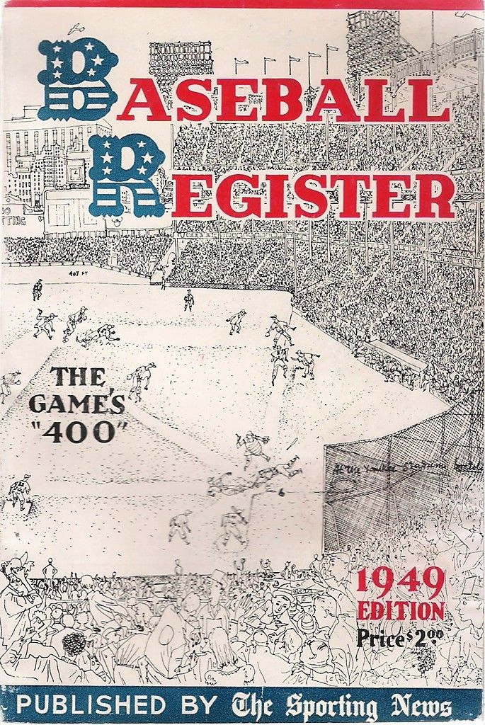 1949 The Sporting News Baseball Register - Gene Bearden | Bx reg