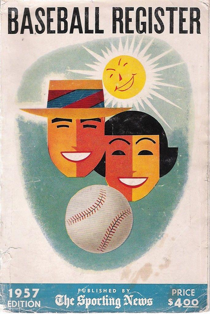 1957 The Sporting News Baseball Register   Box reg