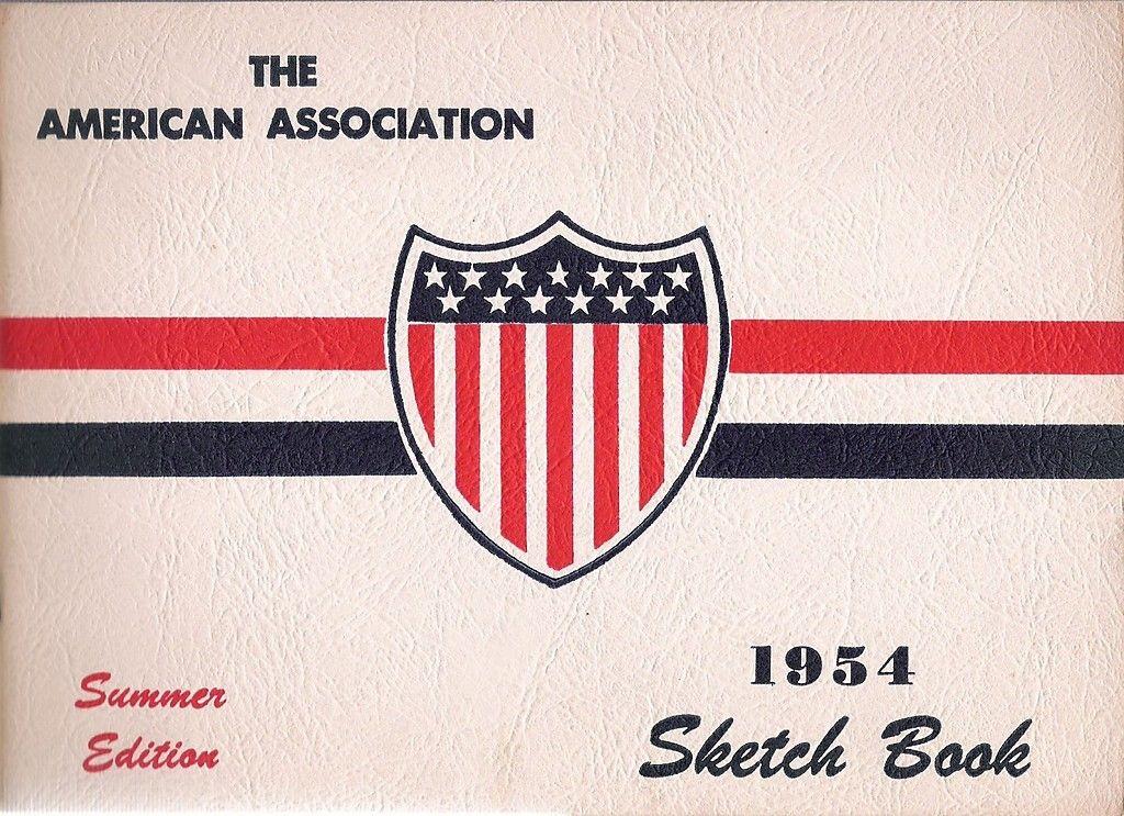 The American Association 1954 Baseball Sketch Book