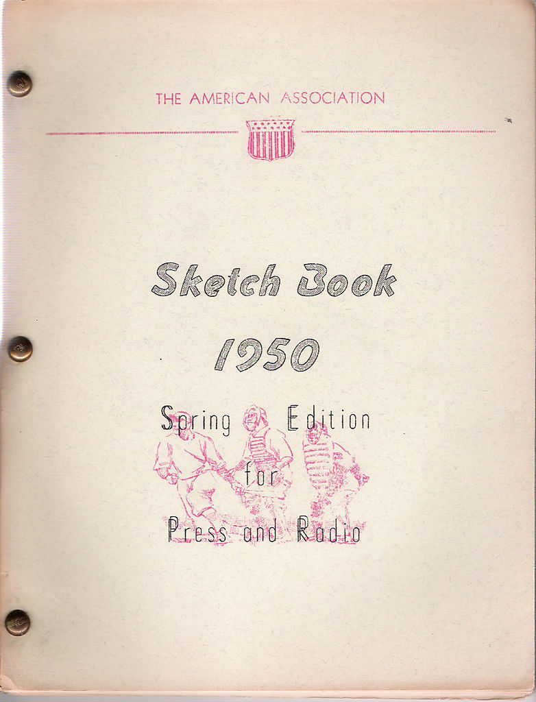 The American Association 1950 Baseball Sketch Book
