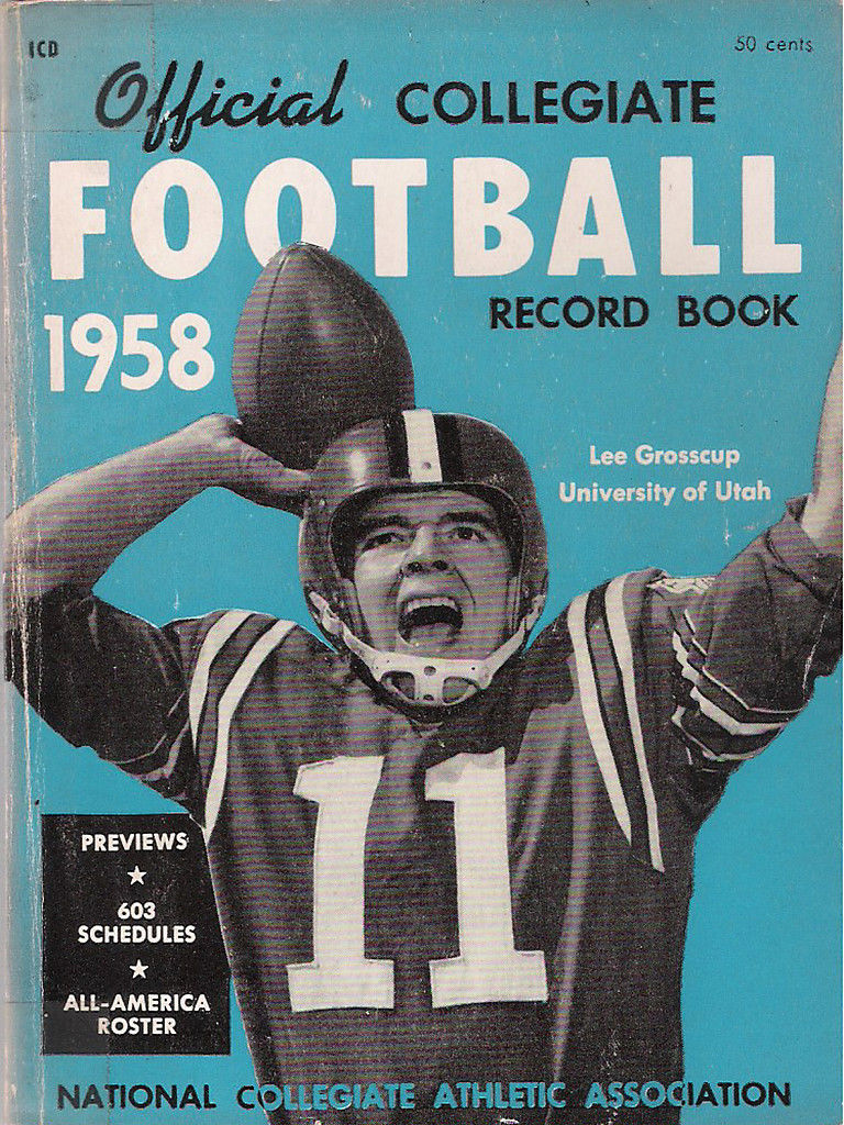 NCAA 1958 Football Media Guide - University of Utah - Lee Grosscup