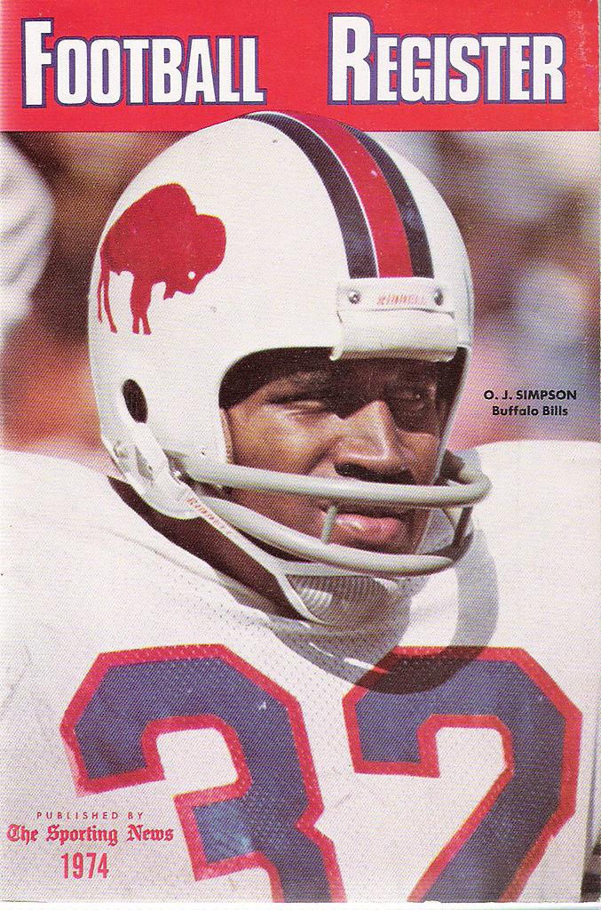 The sporting news  1974 Football Media register - Buffalo Bills - O.J. Simpson