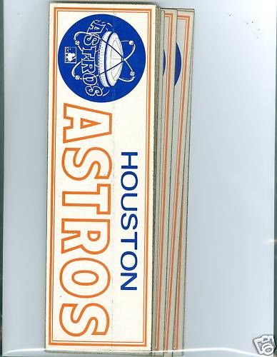 1969 Houston Astros bumper stickers bx1