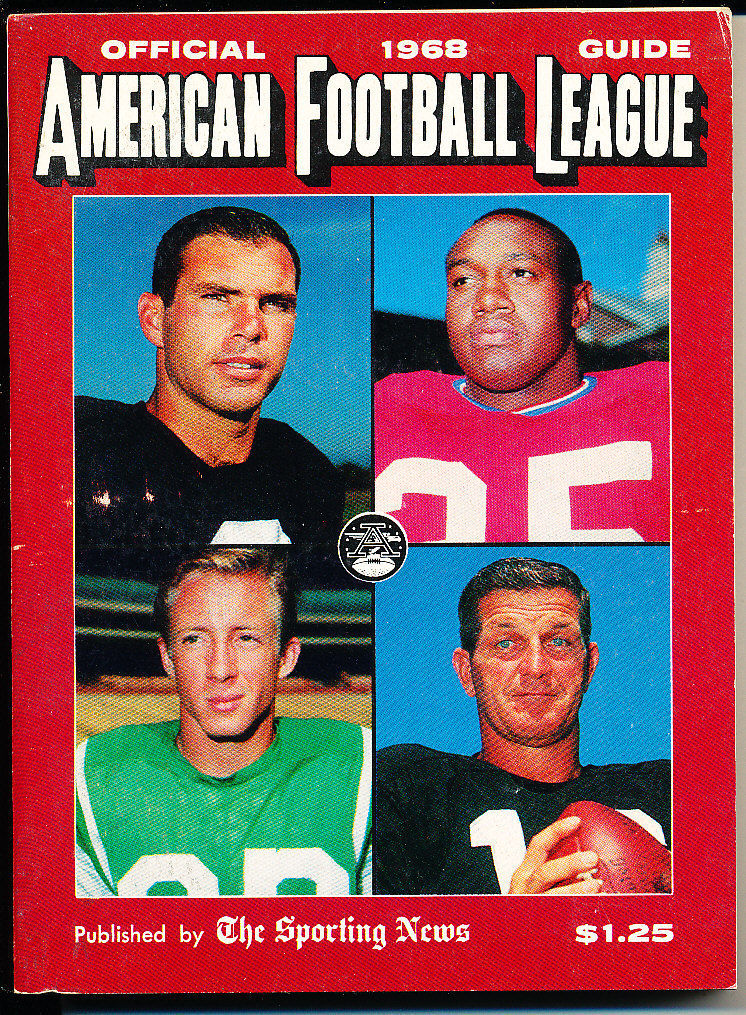 1965 AFL American Football League official Guide San Diego Chargers