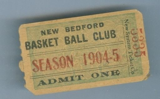 1904 New Bedford pro Basketball ticket first year! em