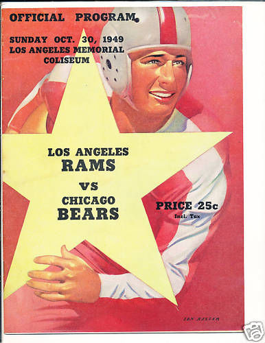 10.30.1949 Rams Bears version 2 game program