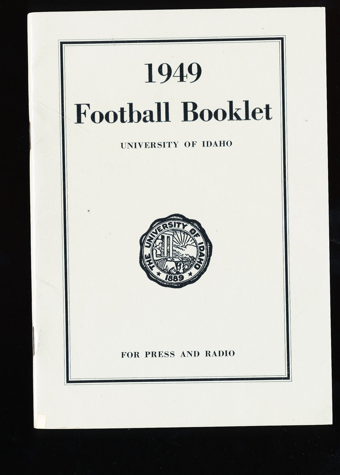 1949  University of Idaho football Press Media guide CFBmg1