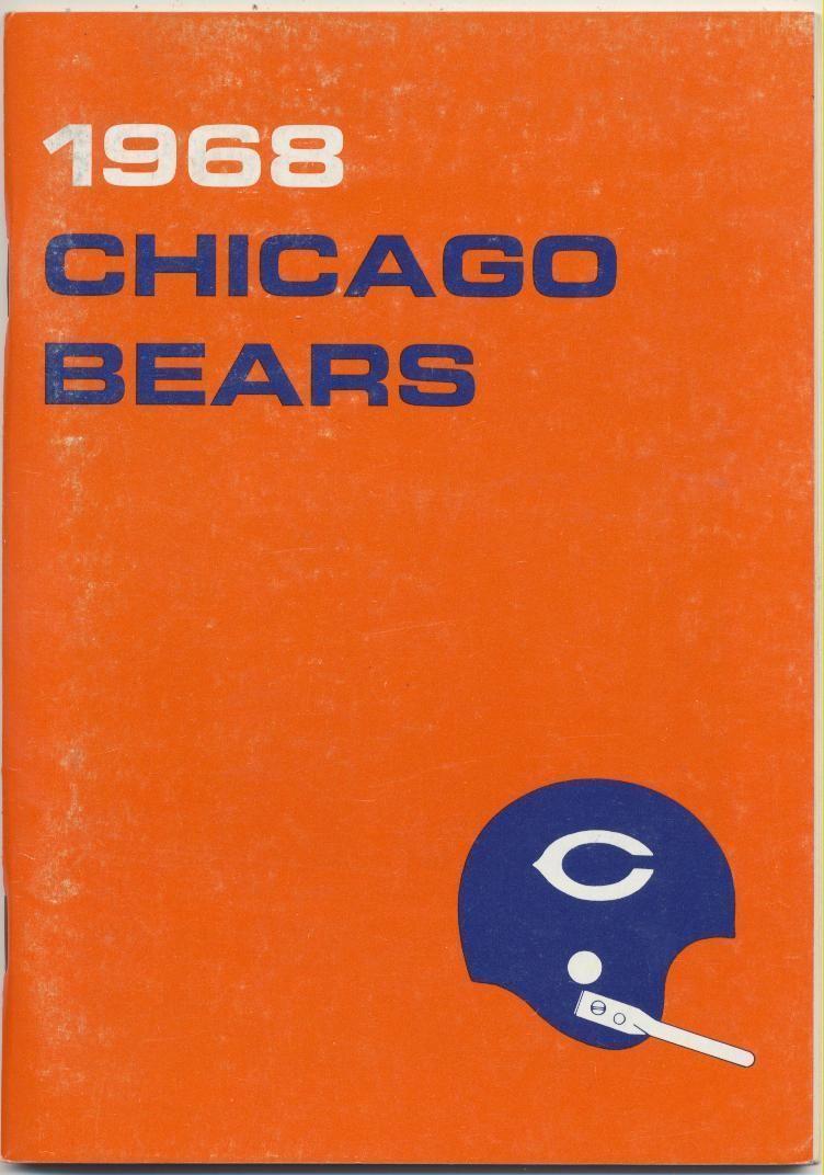 1968 Chicago Bears Media Guide, Near Mint