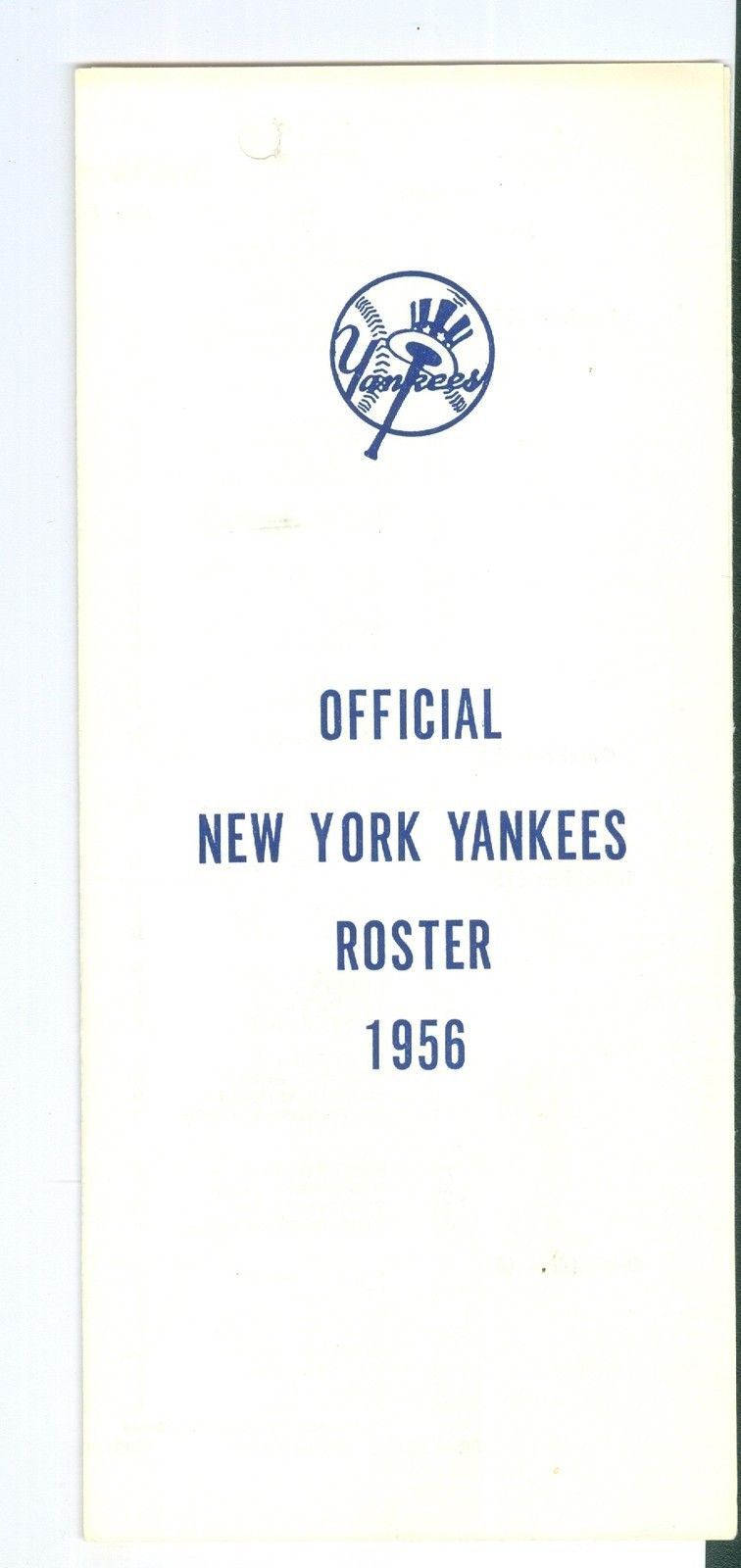 1956 New York Yankees spring training roster