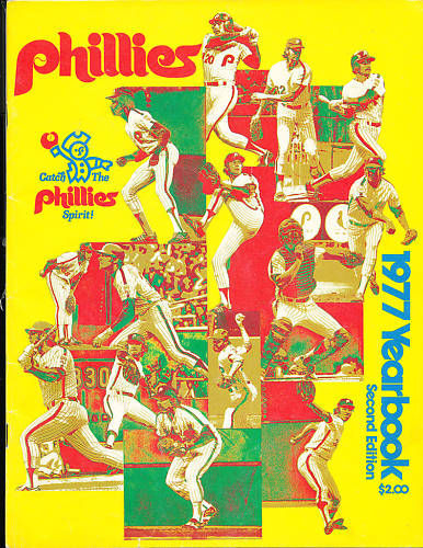 1977  Philadelphia Phillies Yearbook second edition in em condition