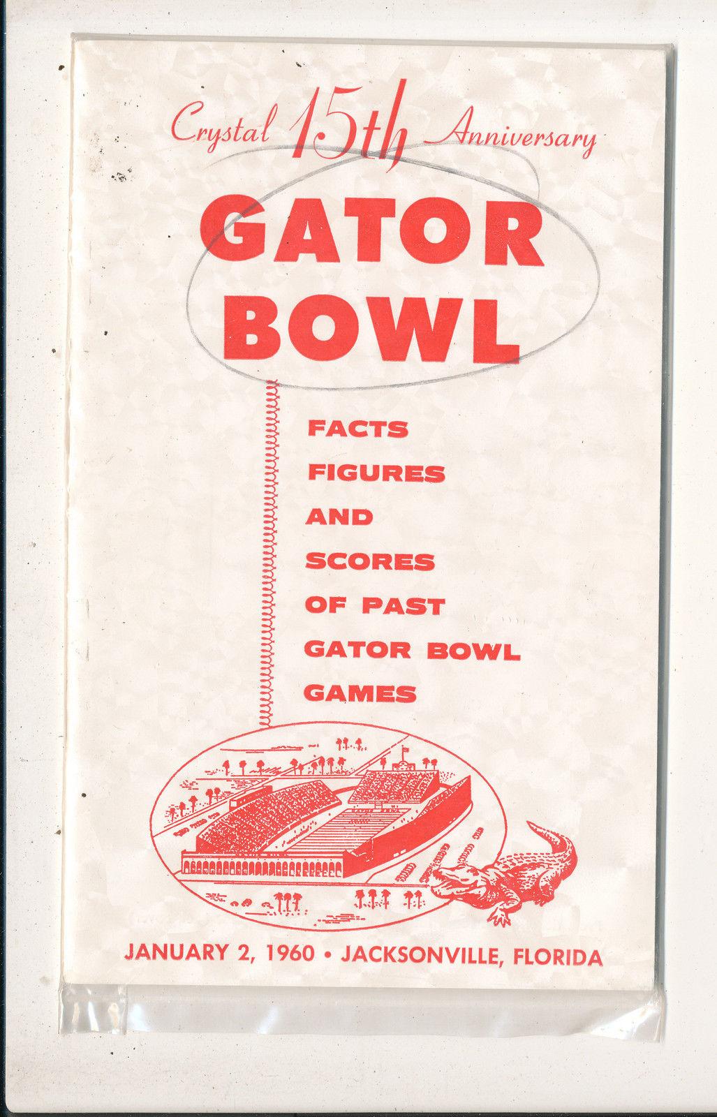 1/2 1960 Gator Bowl Press guide