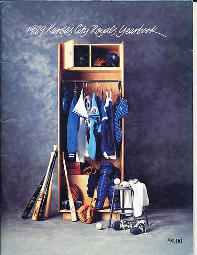 1989 Kansas City Royals Yearbook in nm