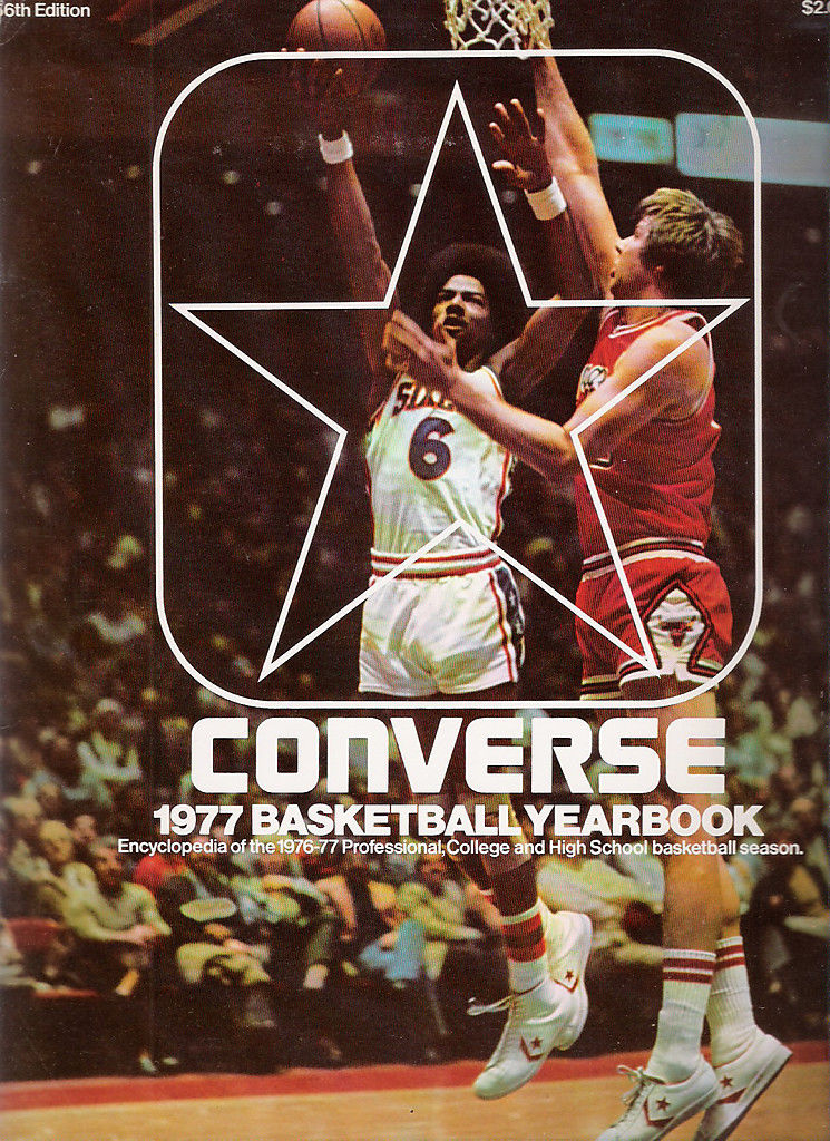 Converse 1977 Basketball Yearbook 56th Edition Julius Erving sixers