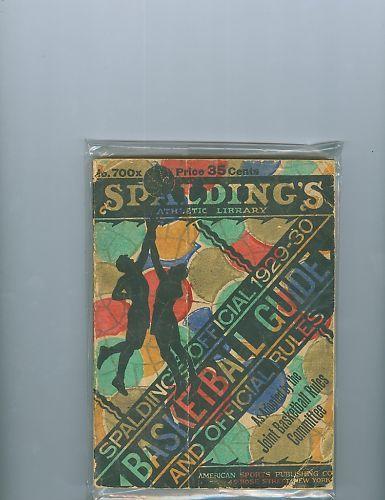 1929 -1930 Spalding Basketball Guide
