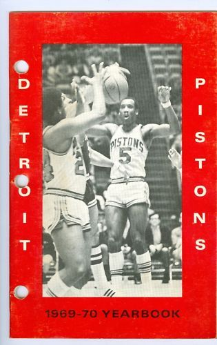 Detroit Pistons 1969 media press guide yearbook NBAmg1