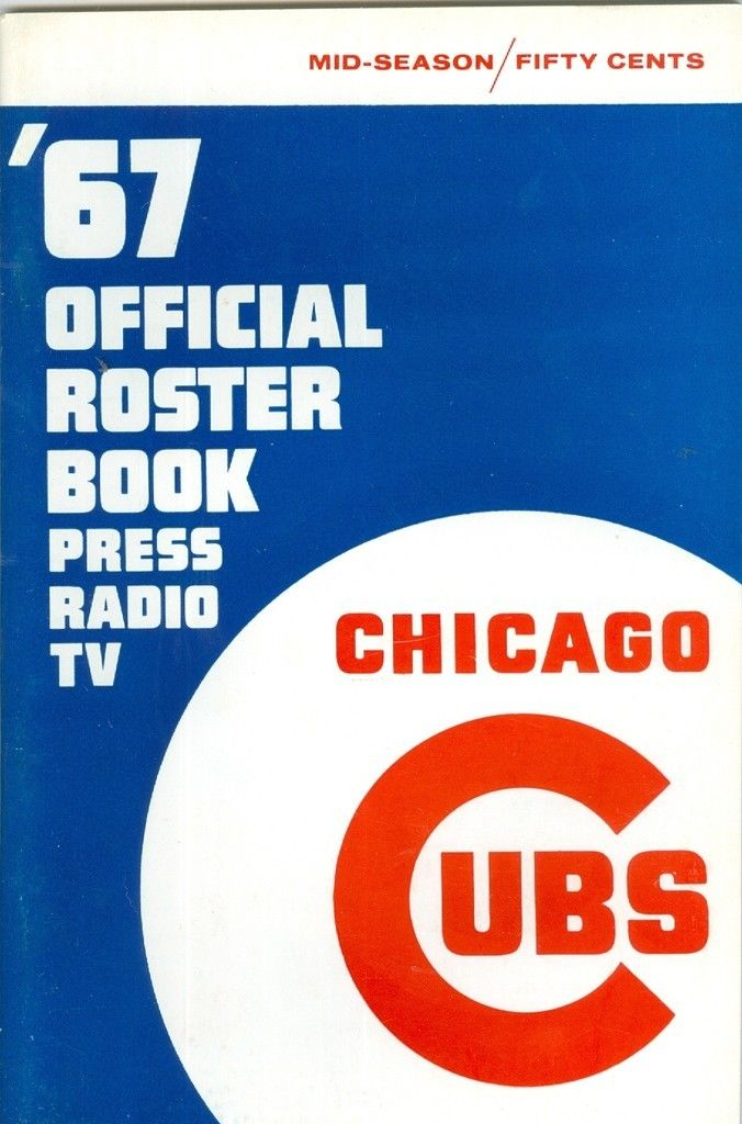 Chicago Cubs Roster Press Guide em  1967 mid season