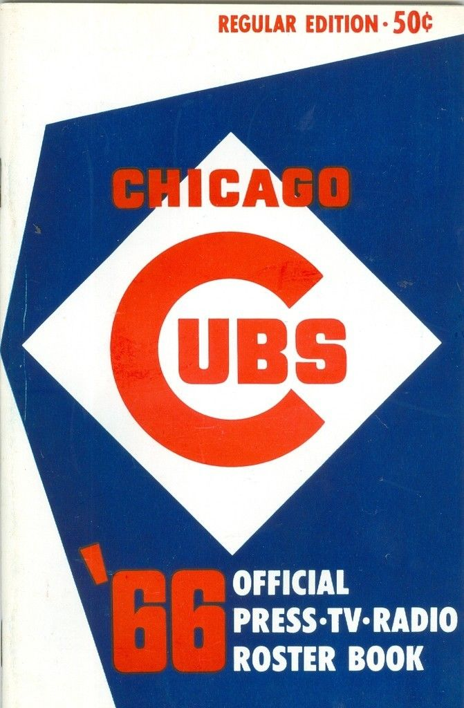 Chicago Cubs Roster Press Guide nm  1966 regular edition