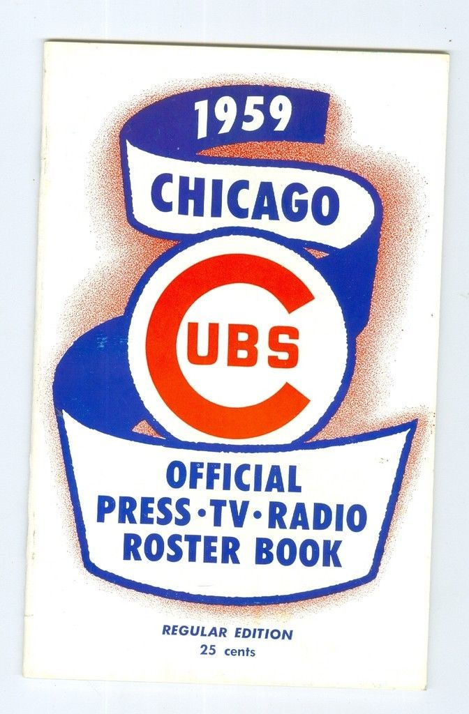 Chicago Cubs Roster Press Guide nm 1959 regular edition