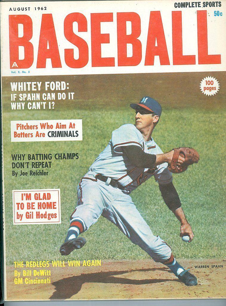 1962 Aug baseball complete sports Warren Spahn Braves