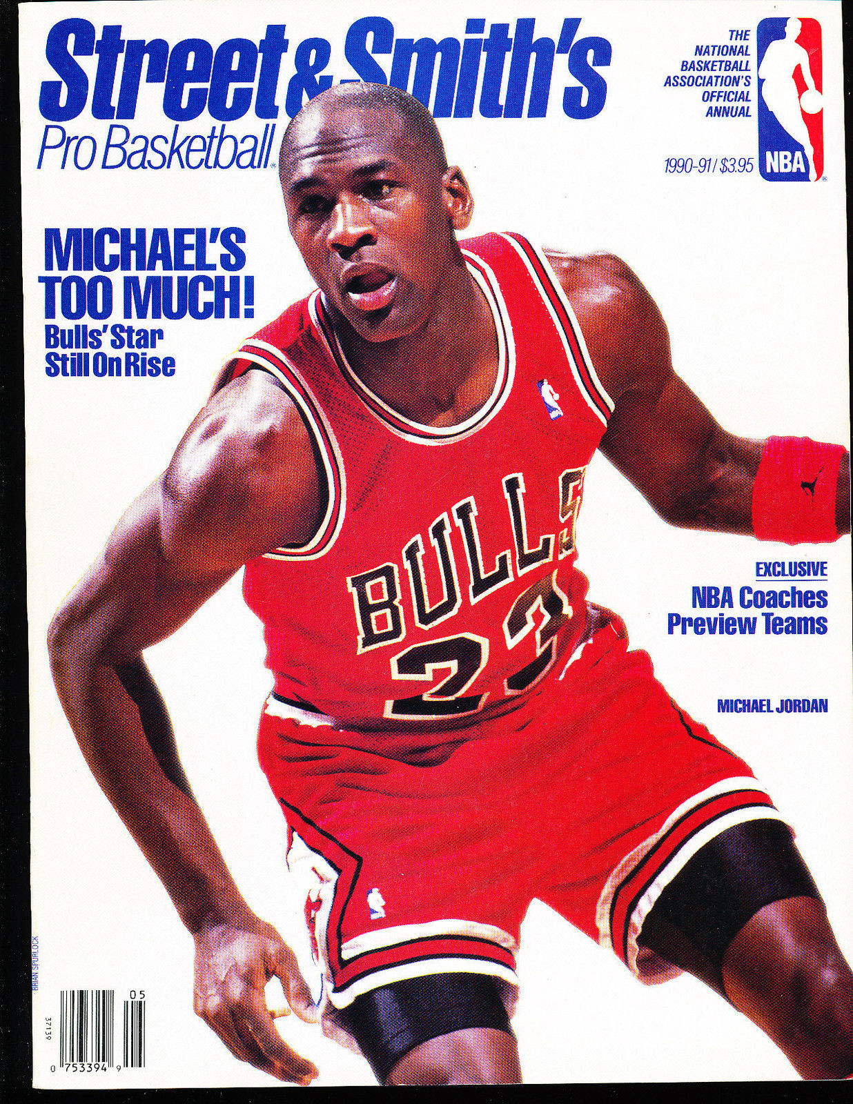 1990 Street Smith Pro Basketball yearbook Guide Michael Jordan chicago Bulls