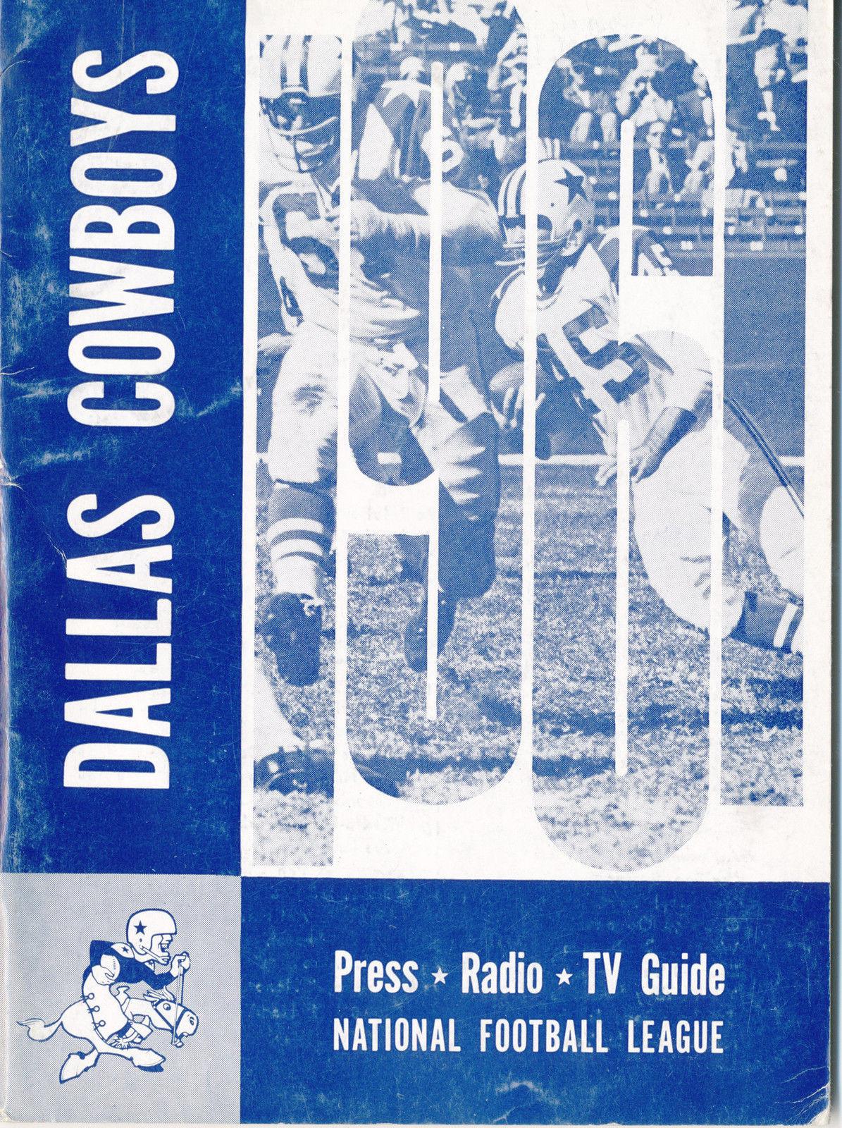 1961 Dallas Cowboys Football Press media Guide      bx fg1