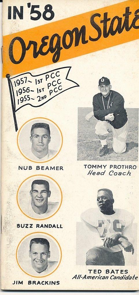 1958 Oregon State Football Press Guide em CFBmg19