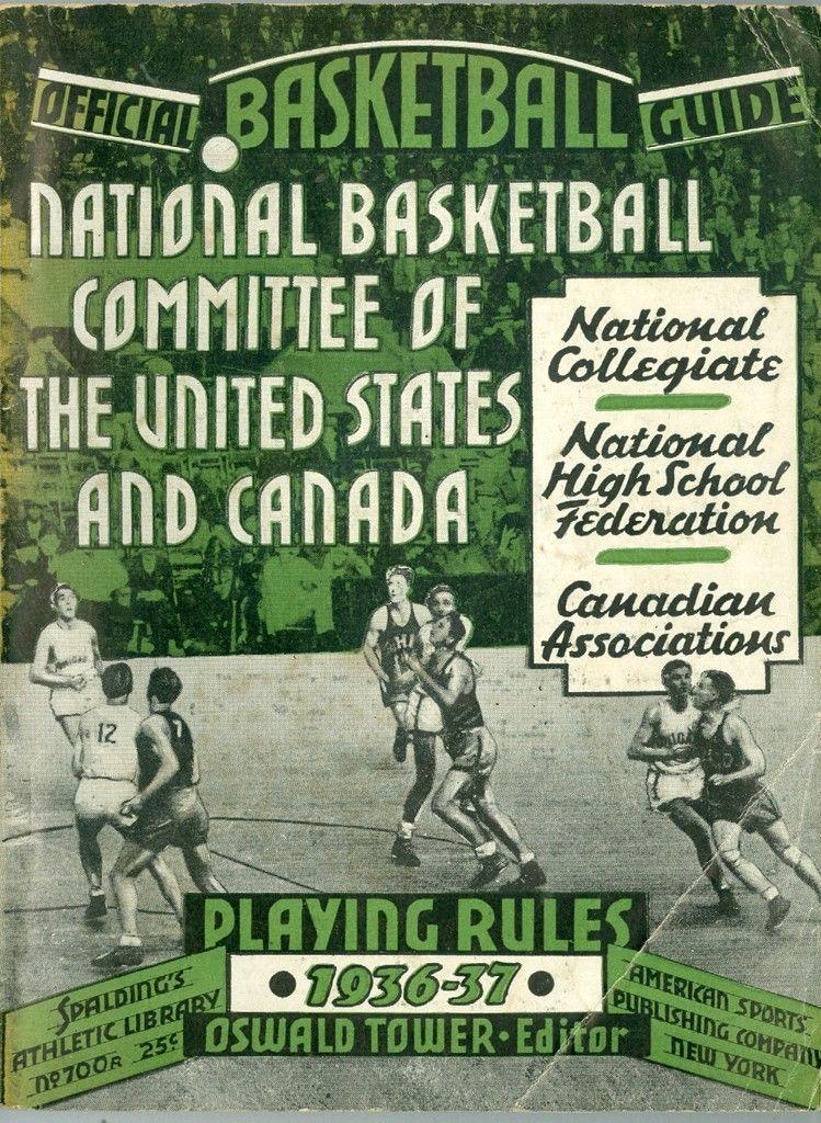 1936 - 1937 Spalding Basketball Guide ex (corner crease0