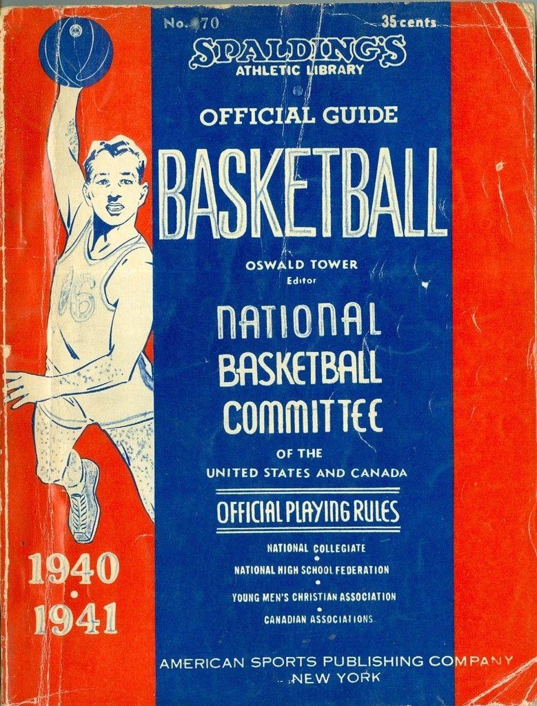 1940 - 1941 Spalding Basketball Guide vg-ex (crease) pencil