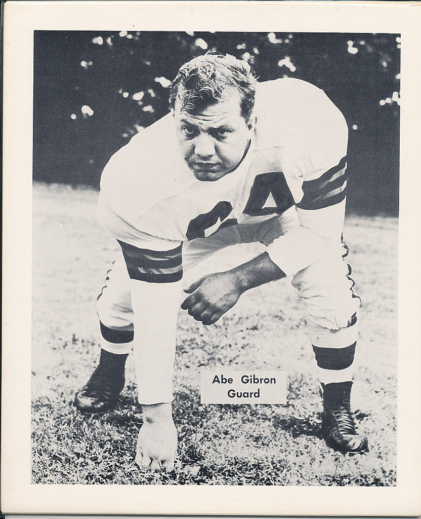 1953 Cleveland Browns Abe Gibron Team Issued card nm