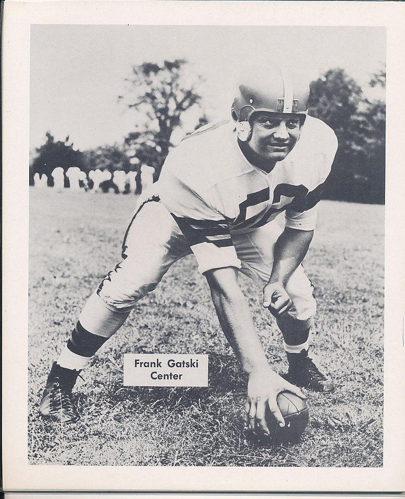 1953 Cleveland Browns Frank Gatski Team Issued card nm