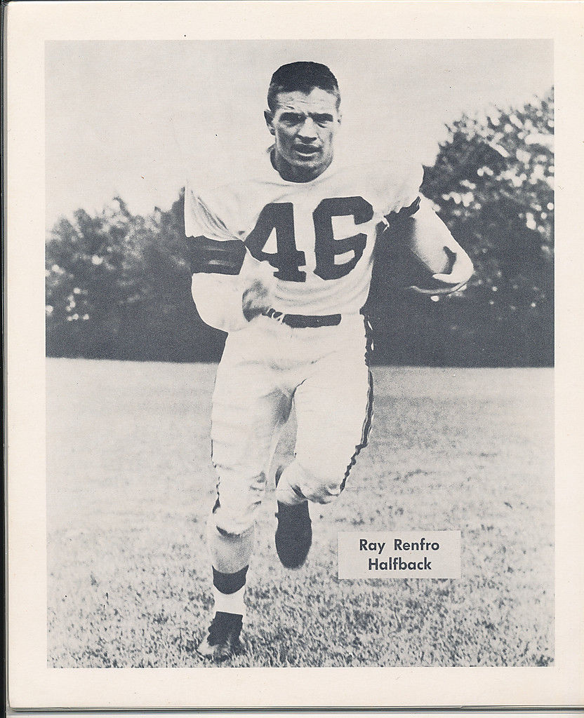 1953 Cleveland Browns Ray Renfro Team Issued card nm