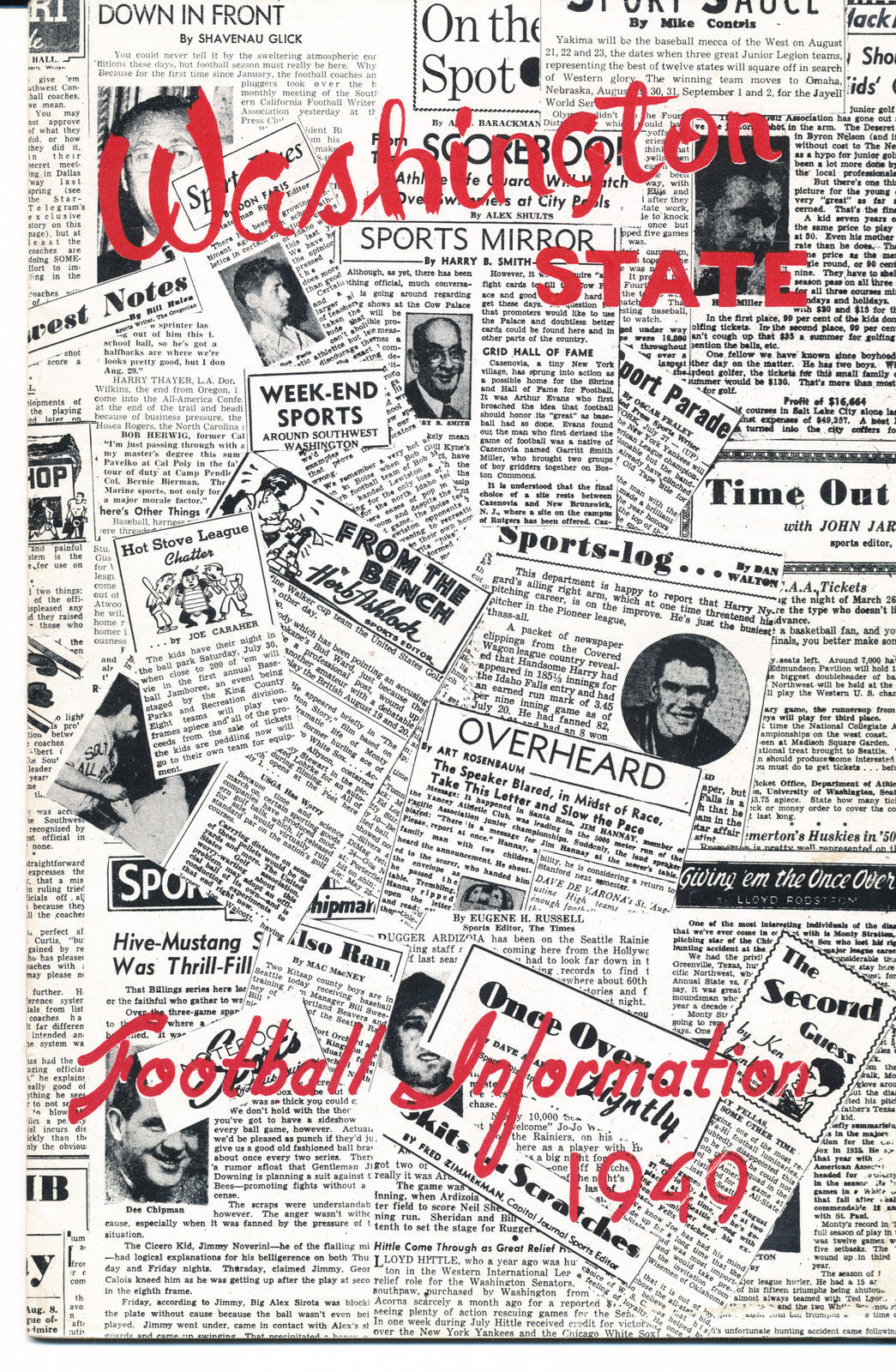 1949 Washington State Cougar College Football Press media Guide      bx cg2