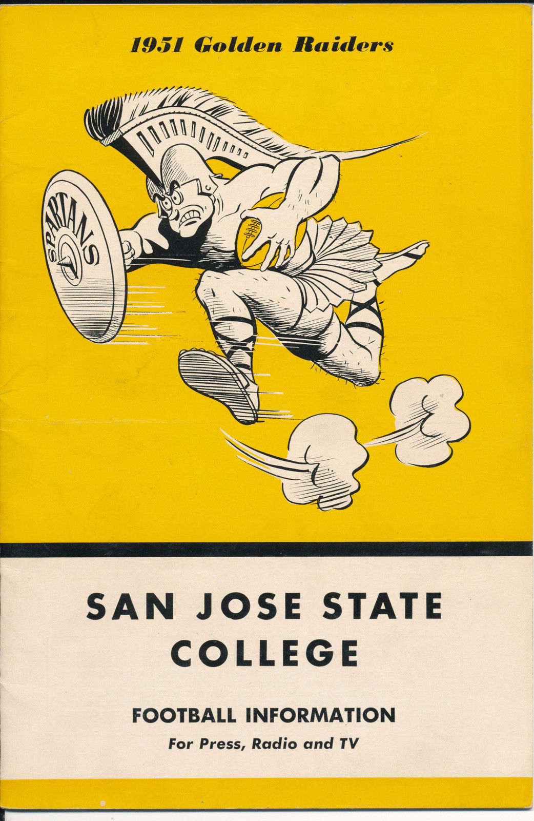 1951 San Jose State College Football Press media Guide CFBmg1