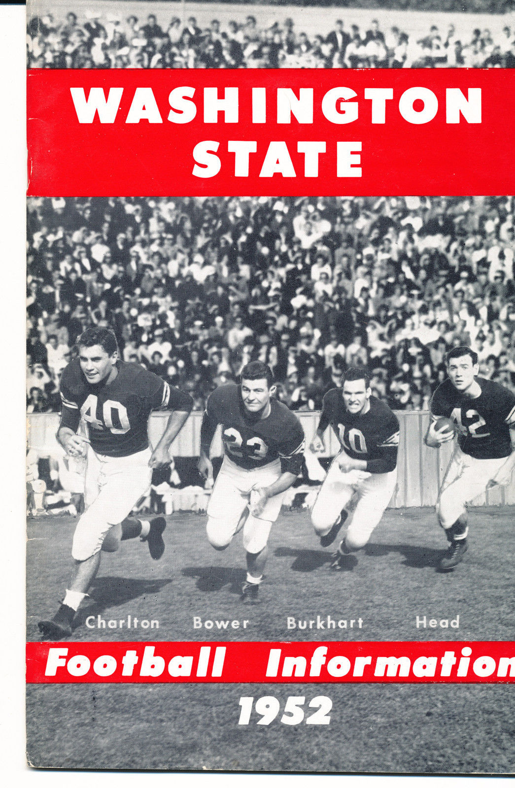 1952 Washington State Cougar College Football Press media Guide      bx cg2