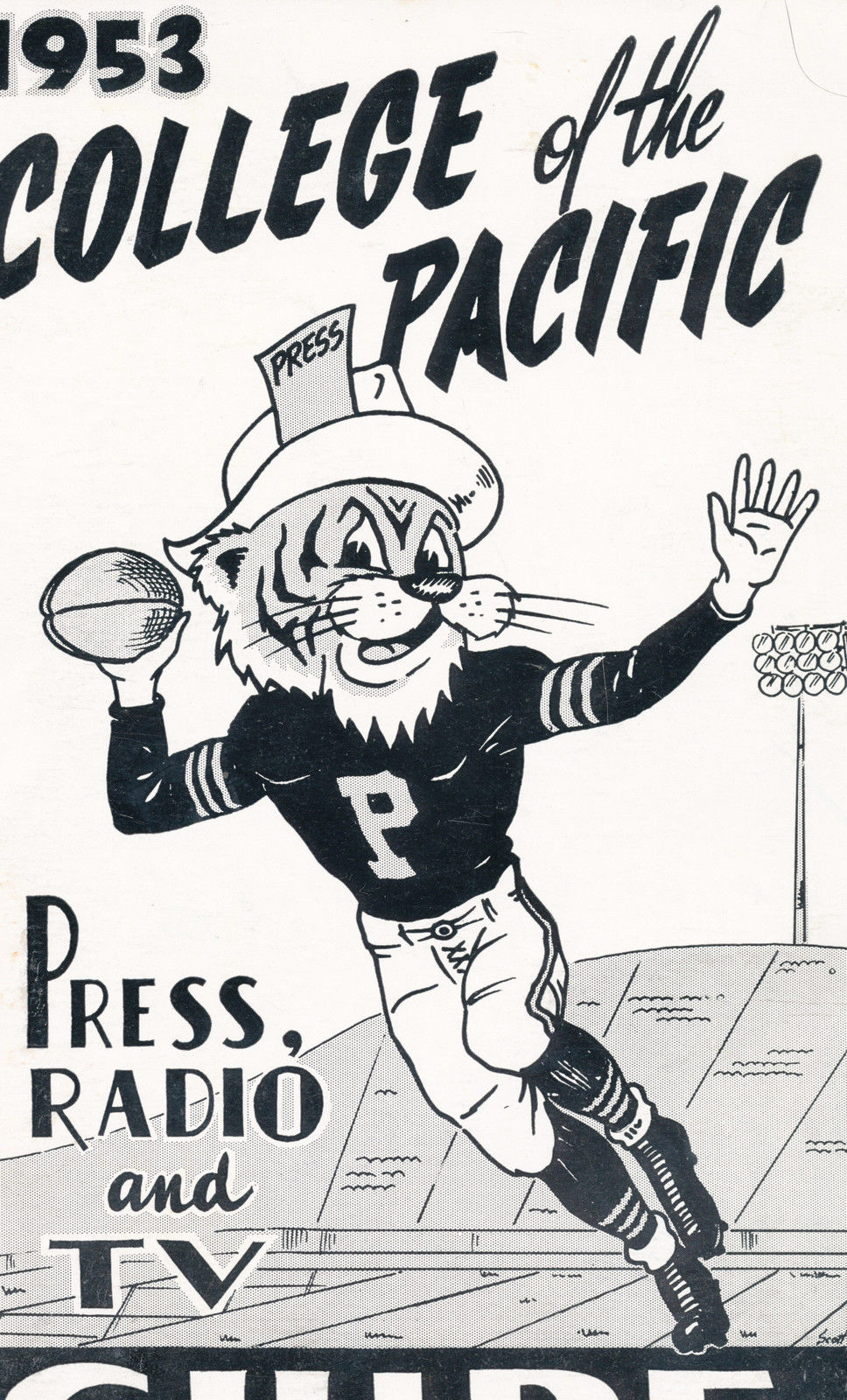 1953 College of the Pacific Tiger Football Press media Guide CFBmg1 pre67