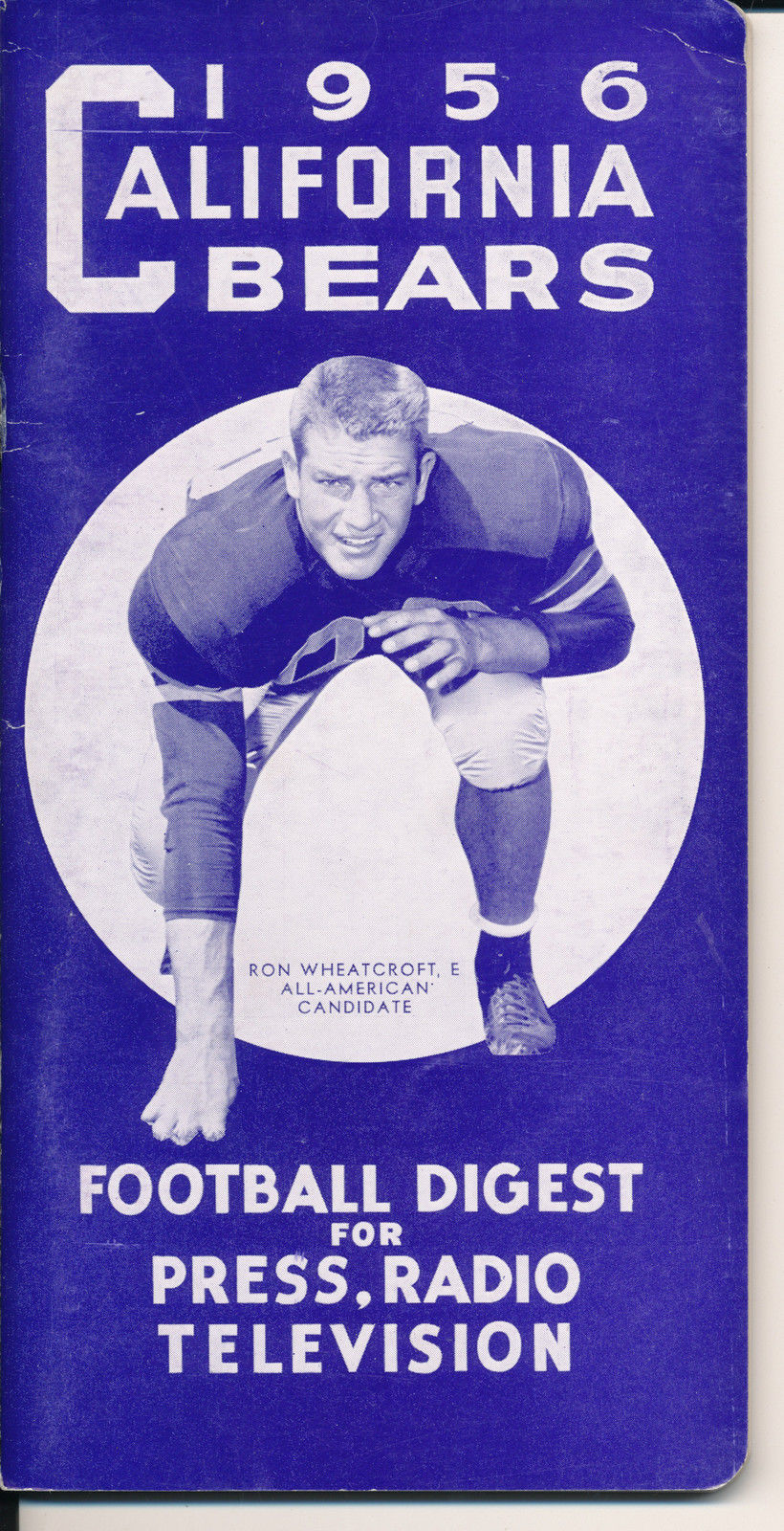 1956 California Bears College Football Press media Guide CFBmg19