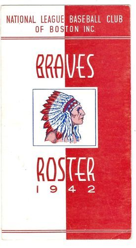 1942 Braves Spring Training Roster & schedule