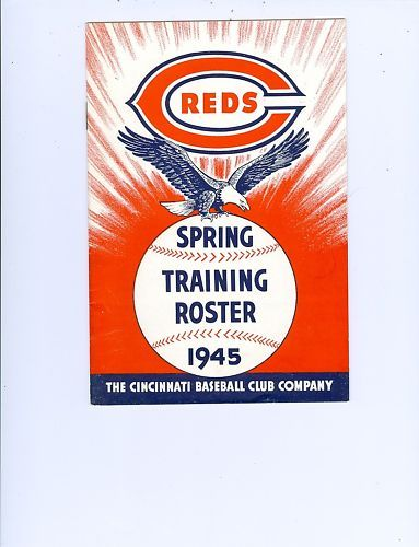 1945 Reds Spring Training Roster & schedule