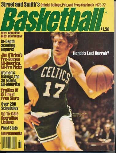 1976-77 Street Smith Basketball John Havicek em-nm